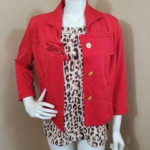 CABI #3035 Love Carol Red Beau Jacket 6 NWT